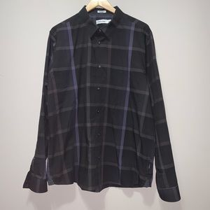 Calvin Klein Long Sleeve Button Down Dress Shirt